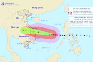 [날씨] 제9호 태풍 '몰라베',레벨 17로 강화되어 다낭~푸옌 해상을 향하고 있다.