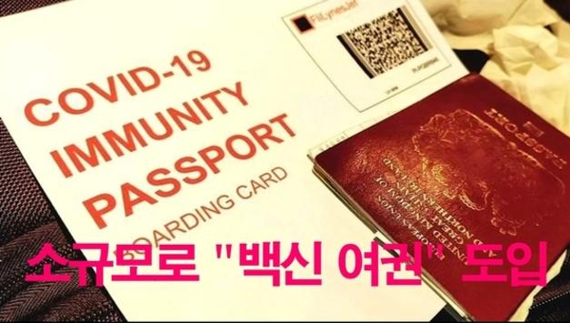 [코비드-19 백신 여권] 소규모 단위로 '백신 여권' 테스트